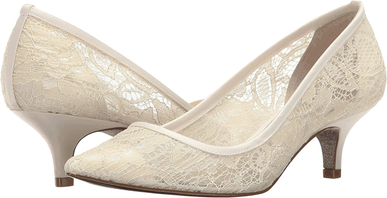 Ivory 1890 Lace Adrianna Papell Lois Toile Talons Talons Talons 4dd