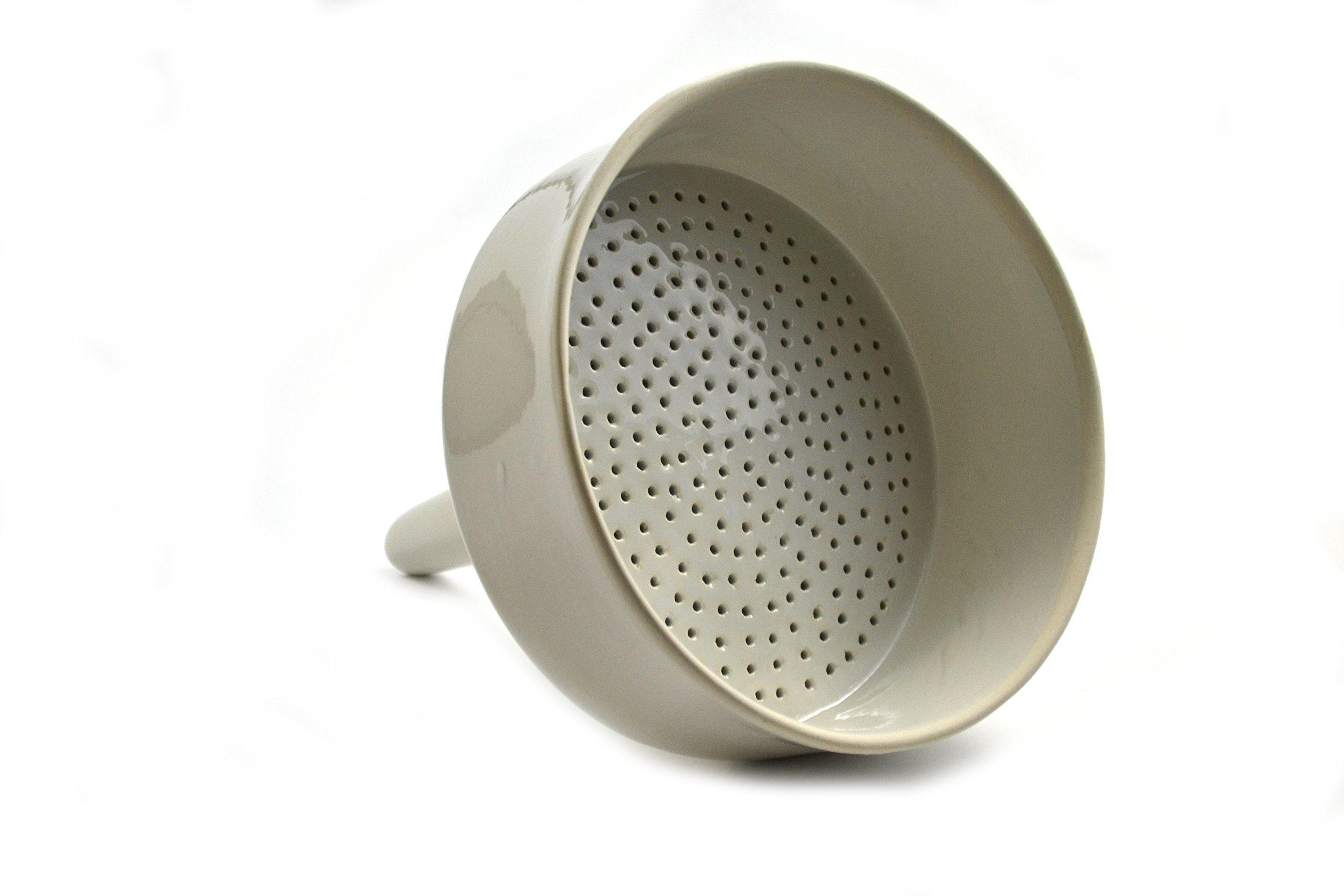 Eisco Labs Porcelain Buchner Funnel - 7.75'' Inside Diameter