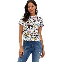 DeFacto Walt Disney Lisanslı Kısa Kollu T-shirt Kadın T-Shirt
