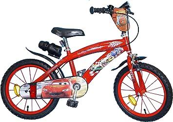 TOIMS Cars - Bicicleta Infantil para niño, Niño, Cars, Rojo: Amazon.es: Deportes y aire libre