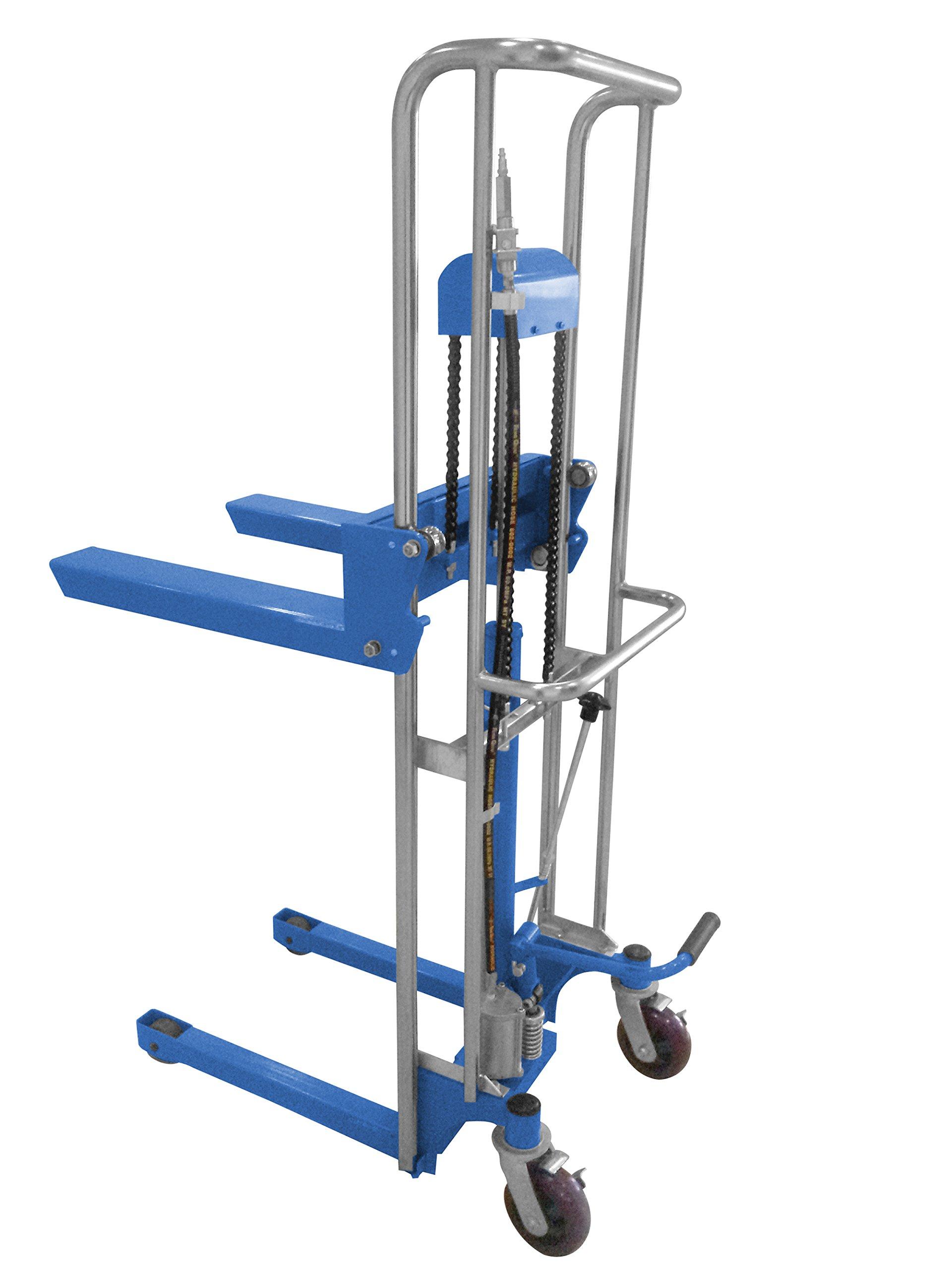 Vestil HYD-10-AIR Portable Air Foot Pump Hefty Lift, 69'' Height