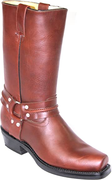 Grinders Renegade Hi Tan Unisex Leather Boot Cowboy Western Bikers High Boots