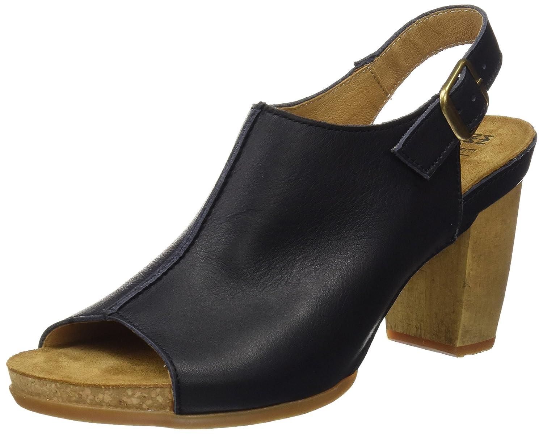 TALLA 36 EU. El Naturalista N5022, Zapatos de tacón con Punta Abierta para Mujer