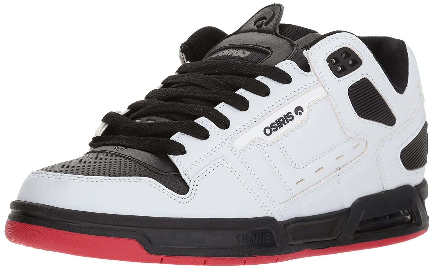 Osiris Men's Peril Skate Shoe 7.5 D(M) US|White/Black/Red
