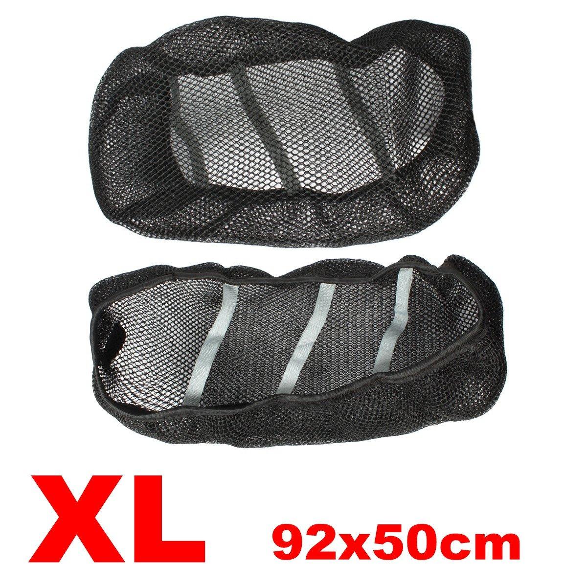 Wooya 3D Moto Scooter Coprisella Net Traspirante Protector Black-XXL