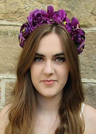 new concept 0e184 68141 Lila Rose Blume Orchidee Kopfband Haar Crown Kopfbedeckung ...