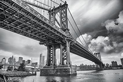 Amazon Com Manhattan Bridge New York Usa Mural By Great Art Xxl