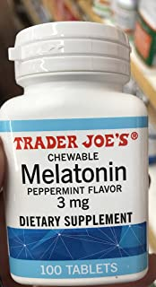 Trader Joes Chewable Melatonin Pepermint Flavor 3mg (pack of ...