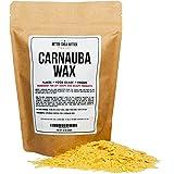 Organic Carnauba Wax Flakes 1 LB - Food Grade, Vegan - Use for Wood Finish, Leather, Vegan Skin Care Ingredient - by…