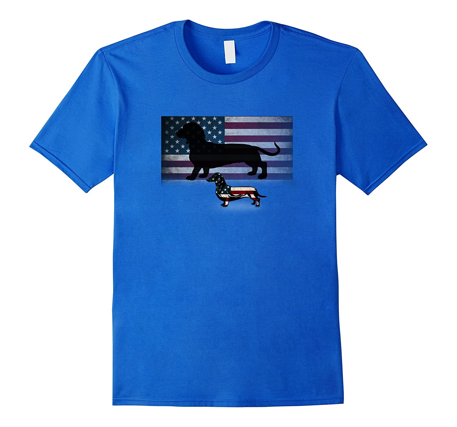 4th July Dachshund American Flag Novelty T-Shirt