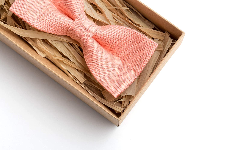 mens wedding bow ties Rose quartz quartz pre tied bow ties for you wedding party Linen pre tied bow ties for you grooms mens pre tied bow ties