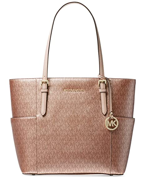 4adbedeab18e Amazon.com: Michael Kors Women's Jet Set Travel Small Logo Tote Bag (Soft  Pink/Rose Gold): Cell Phones & Accessories