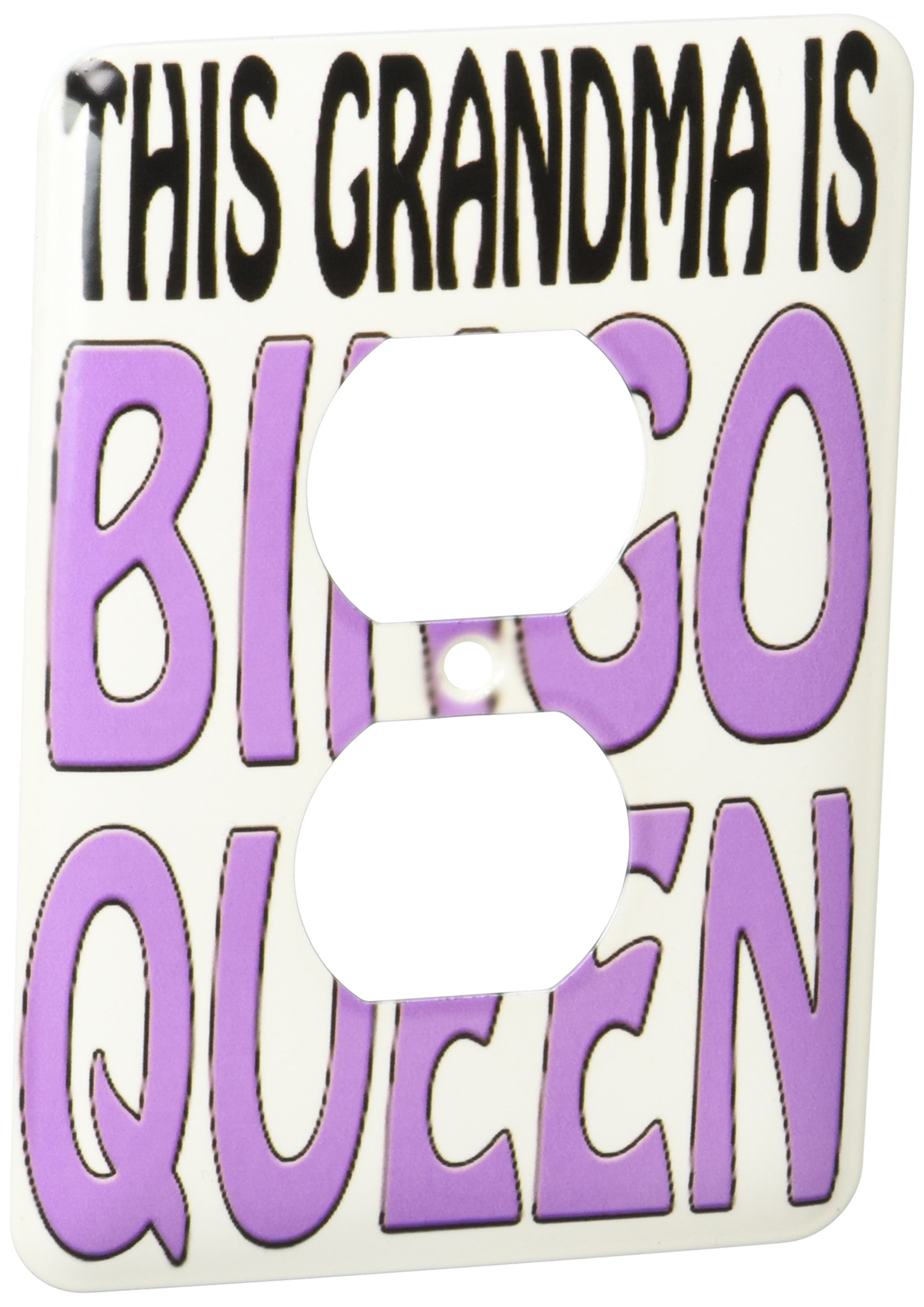 3dRose lsp_149773_6 This Grandma Is Bingo Queen Purple 2 Plug Outlet Cover by 3dRose