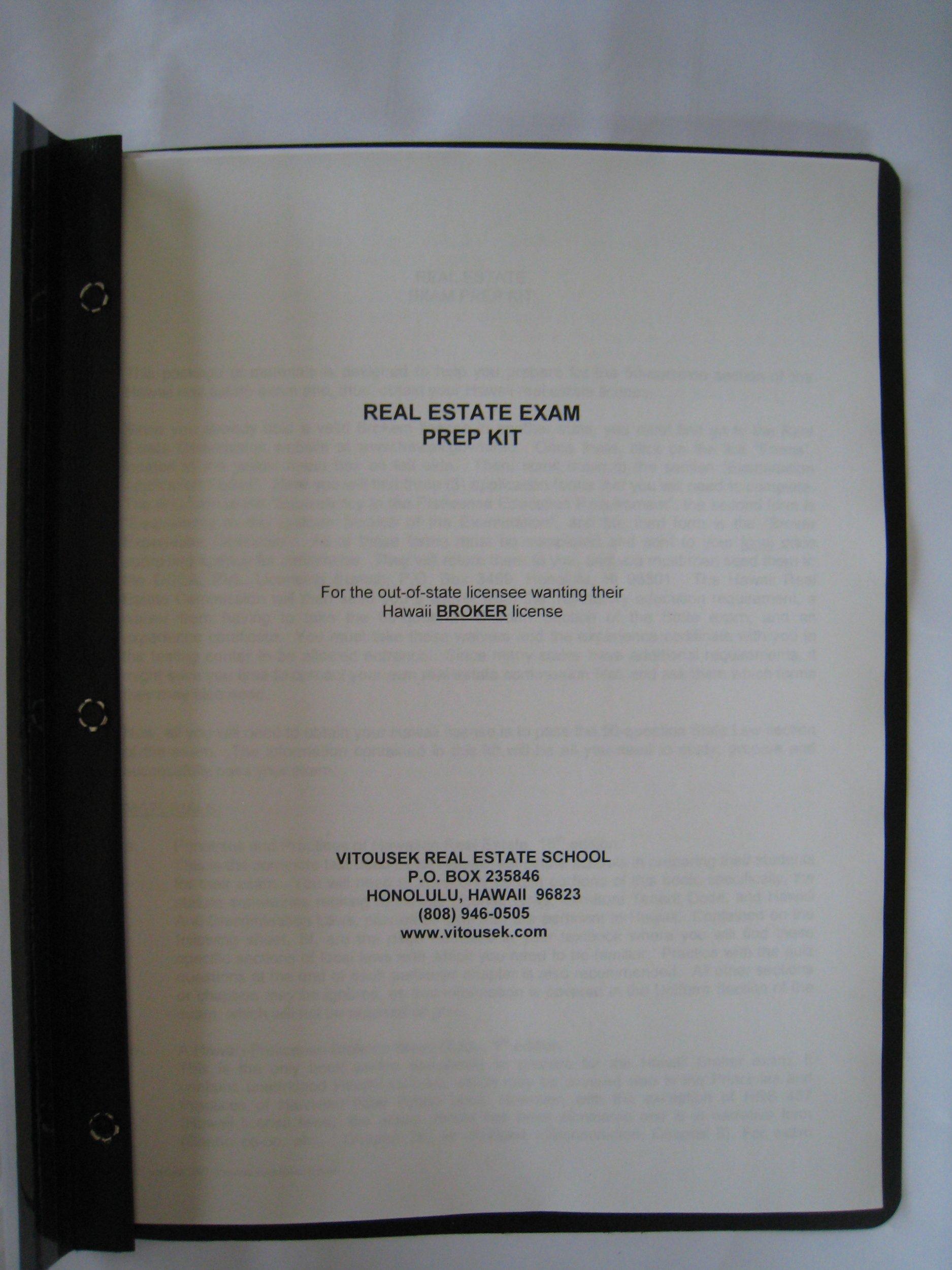 Hawaii Real Estate Exam Prep Kit For Brokers Paige B Vitousek