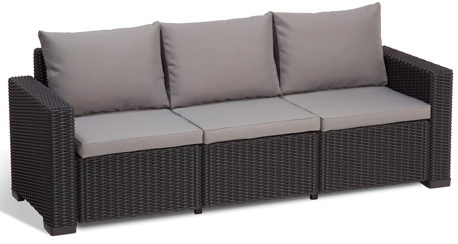 Allibert Lounge Sofa California, Grau, 3-Sitzer