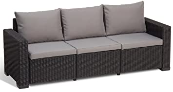 Allibert California Sofa - patio sofas (Grafito, Gris, Alrededor ...