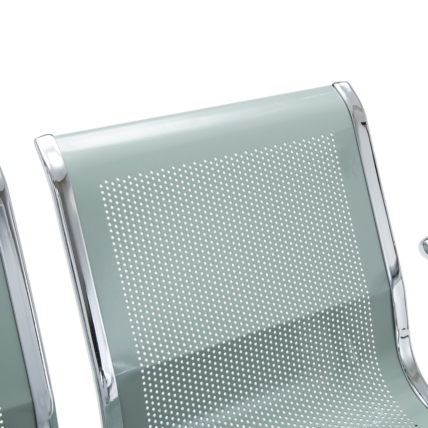 Office Chair Guest Heavy Duty Waiting Room Chairs with Arms Salon Barber Bank Hall Room Conference Airport 3 Seats Furniture Sliverylake Reception Chair Benches