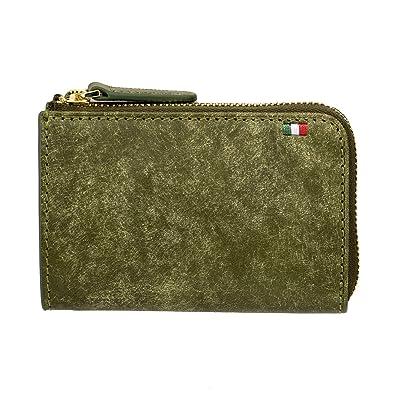 52175d6510b2 (ミラグロ)Milagro イタリアンヌバック・L字ファスナーミニ財布 (財布 メンズ 小銭