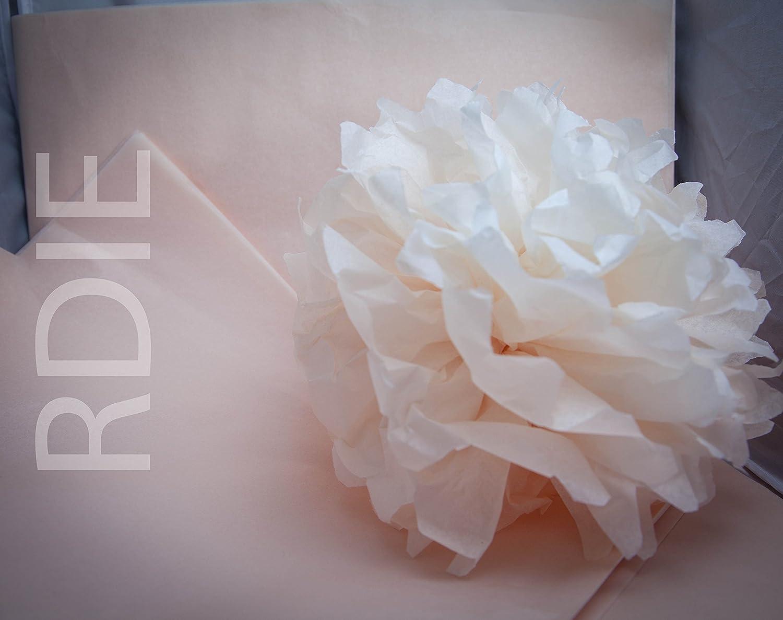 18 grs 24 feuilles de papier de soie Champagne 50x75cm