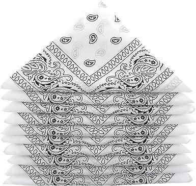 KARL LOVEN – Lote de pañuelos 100% algodón Paisley pañuelo fichu bandana – Lote de 600 unidades blanco: Amazon.es: Ropa y accesorios