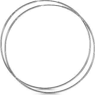 Amberta® 925 Sterling Silver Fine Circle Endless Hoops - Polished Round Sleeper Earrings Diameter Size: 20 30 40 60 80 mm BIA-S915-HOOP-001