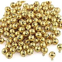 Naler 120Unidades cascabeles Golden Abrazaderas Campanas de Cobre