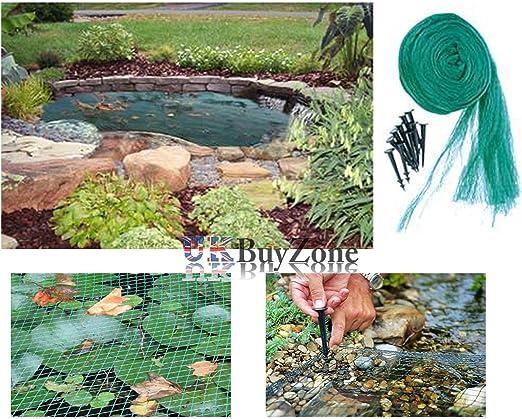 Estanque Red de seguridad para jardín Koi estanque de peces piscina Red hojas pantalla pinzas, 6 x 5 Meters: Amazon.es: Jardín