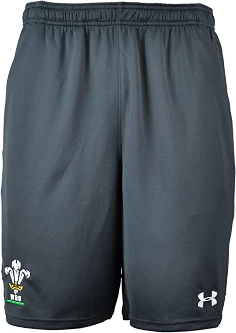 Anthracite Under Armour 2018-2019 Wales Rugby WRU Training Shorts