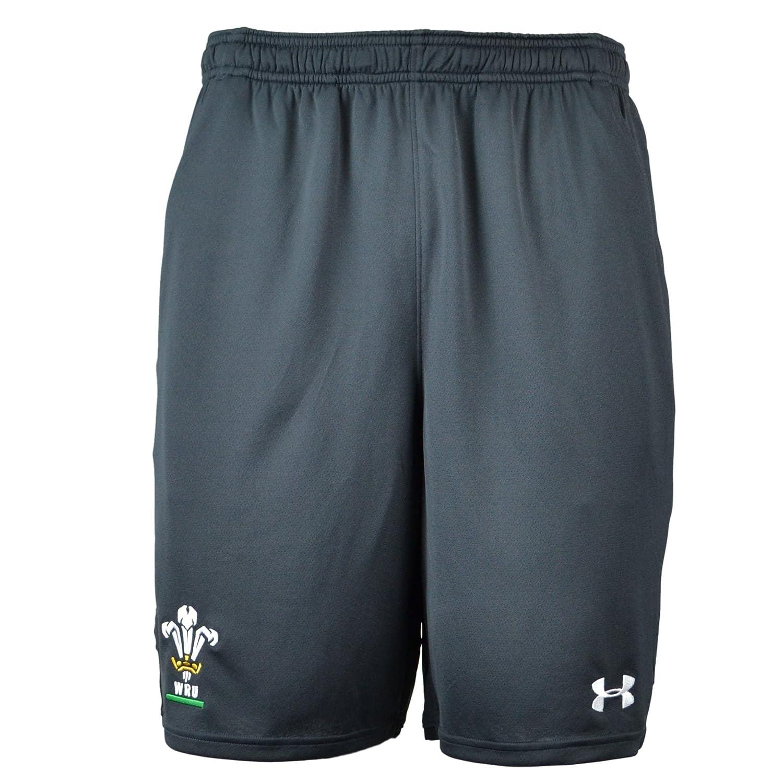 2018-2019 Wales Rugby WRU 9 Inch Mesh Shorts (Anthracite) B076N7YM1R XL 38-40