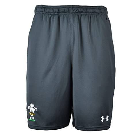 9cf4fc7e858 Amazon.com   Under Armour 2018-2019 Wales Rugby WRU 9 Inch Mesh ...