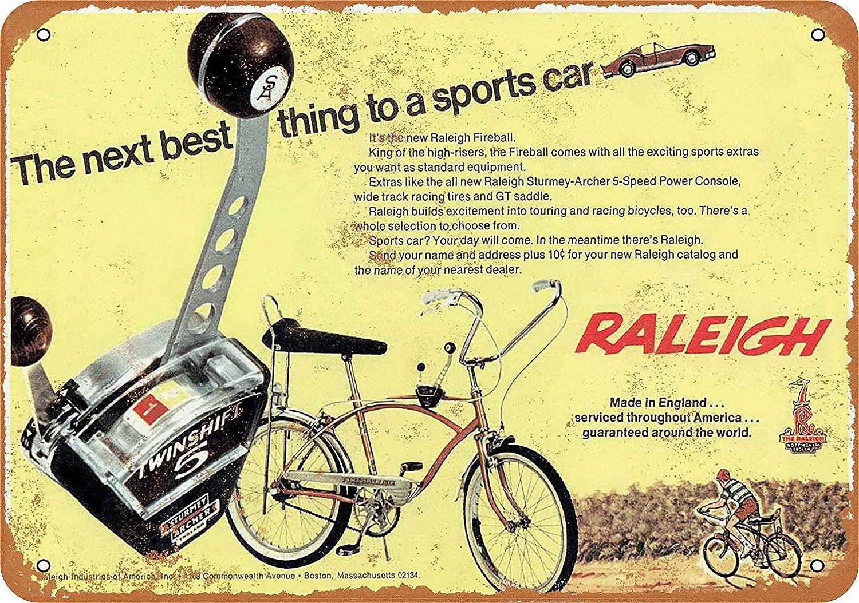 Tengss - Placa metálica para Bicicleta de leña de Raleigh de 1968 ...