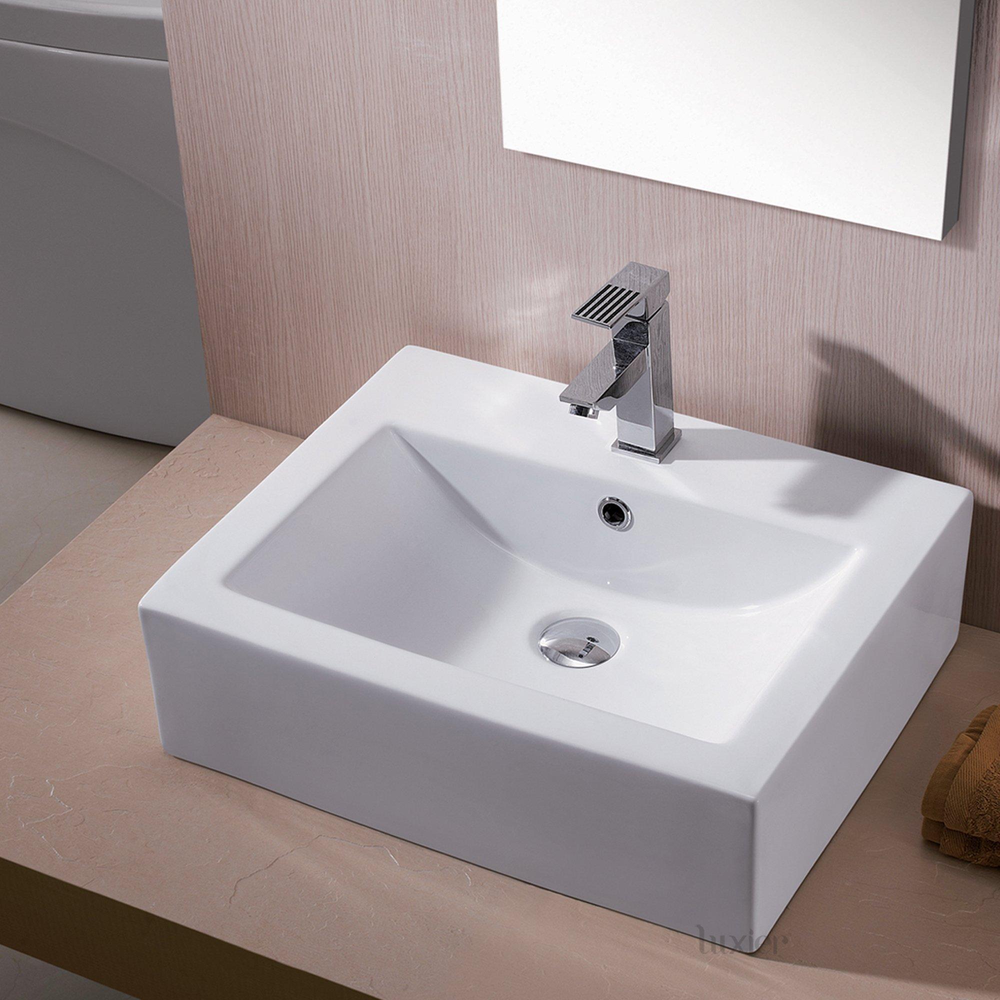 Luxier CS-003 Bathroom Porcelain Ceramic Vessel Vanity Sink Art Basin by Luxier