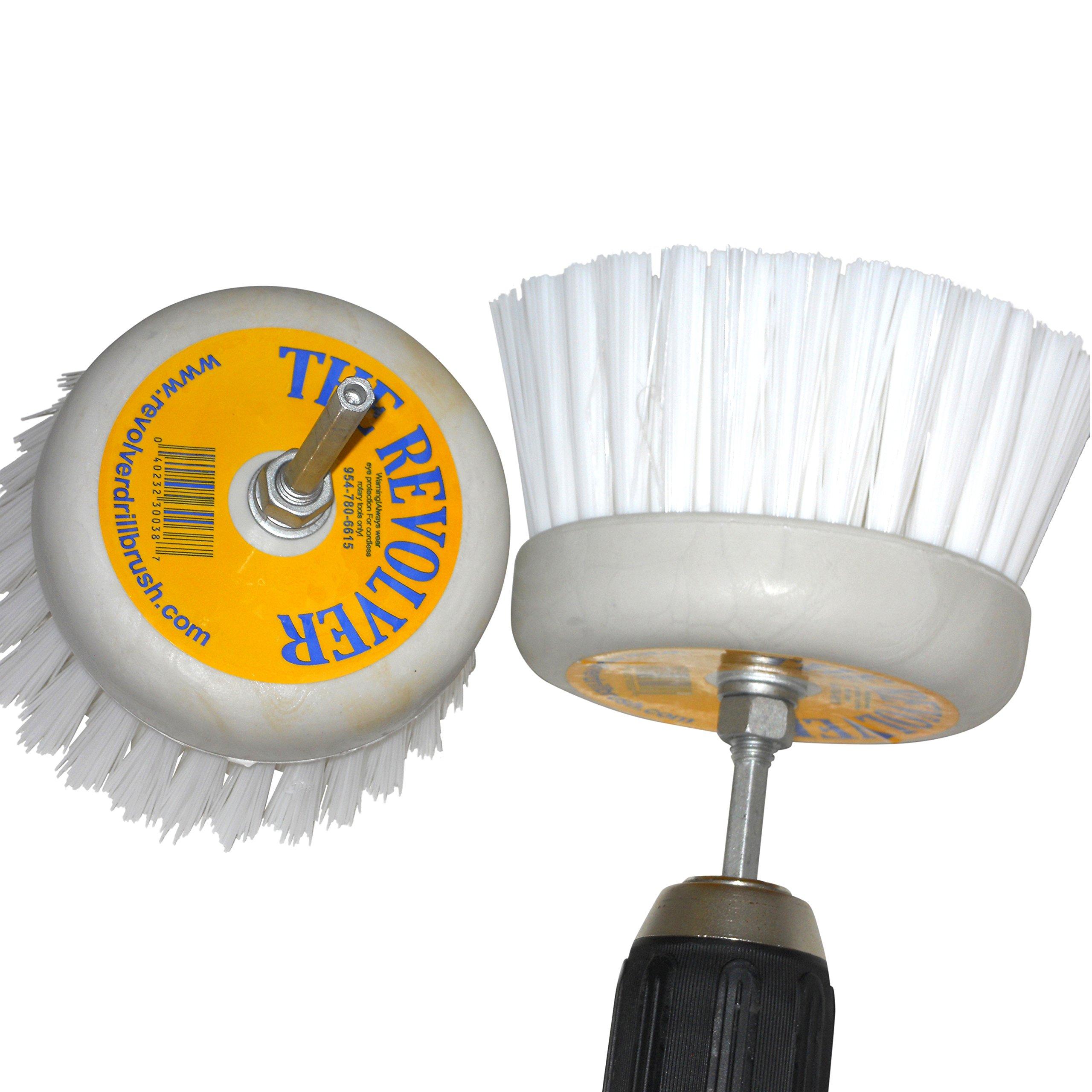 Revolver Drill Brush - Power Scrubbing Drill Attachment - Multi-Purpose Cleaning Tool (2 Pack)
