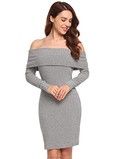 Meaneor Robe Sans Bretelle Femme Gris 44 Amazonfr