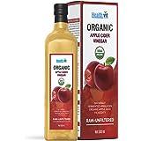 Healthvit USDA Organic Apple Cider Vinegar With The Mother -Raw-Unfiltered 500ml (Glass Bottle)