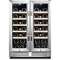 Karcassin Wine Cooler Refrigerator – Compressor Wine Bottle Chiller – wine fridge for Red & White – Stores upto 54 Bottles – Silent with Low Vibrations – Freestanding or Built-in