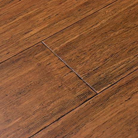 Great Cali Bamboo   Solid Wide Tu0026G Bamboo Flooring, Medium Antique Java Brown,  Aged