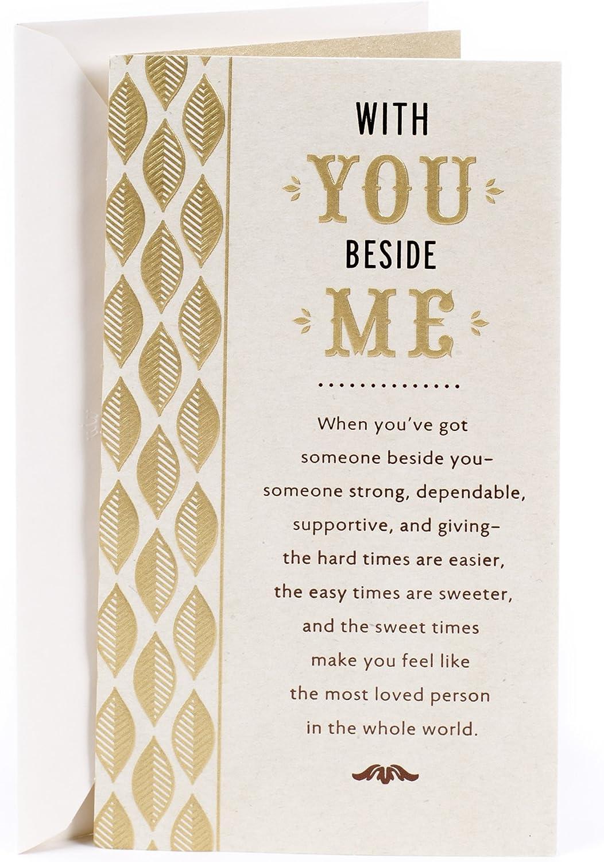 Hallmark Birthday Greeting Card for Husband (Gold and Green Leaf)