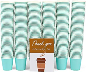 300 Pack Sky Blue Paper Hot Cups, 3Oz Disposable Paper Coffee Cups, Paper Cups for Bathroom Use,Drinks & Snacks