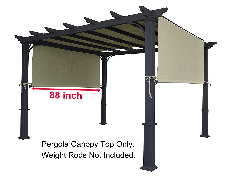 Amazon.com: ALISUN Universal Replacement Canopy Top for 8' x 10' Pergola  Structure - Beige (size: 194