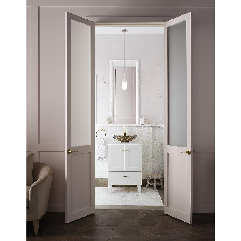 Linen White 24-Inch KOHLER K-99527-LG-1WA Poplin Vanity with Furniture Legs 2 Doors and 1 Drawer