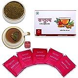 Santulya Certified Organic 5 Herbs(Tulsi,Moringa,Turmeric,Hibiscus & Ginger) Stress Relief Herbal Tea,25 Tea Bags