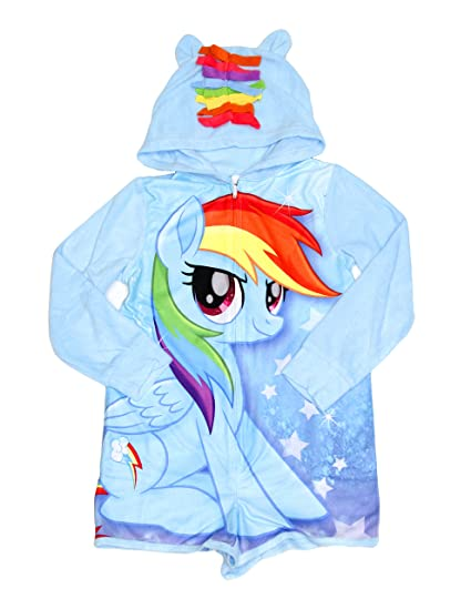 Amazon.com  My Little Pony Girls Onesie Hooded One Piece Pajama ... 597d43b0f