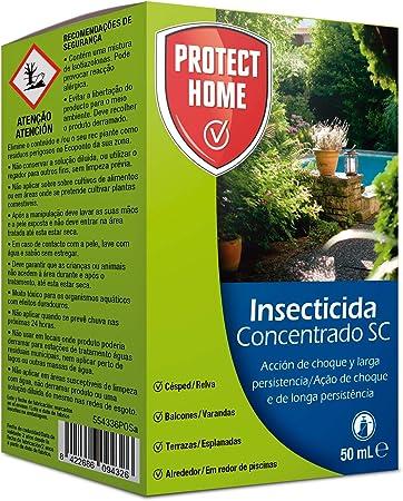Protect Home - Insecticida Concentrado SC para el Control de Hormigas en Exteriores , Acción de Choque y Larga Persistencia, 50 ml, 12 x 7 x 3 cm, ...
