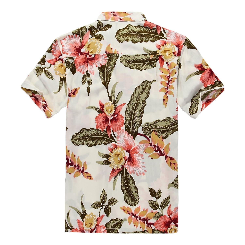 Matching Hawaiian Luau Outfit Men Shirt Girl Wrap Dress in Rafelsia