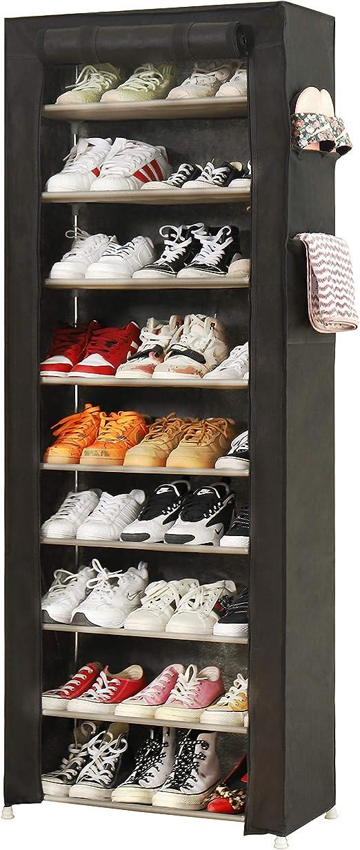 Amazon Com Pengke Large Shoe Rack Shoe Storage Organizer Cabinet