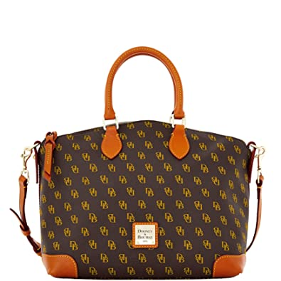 839b33cf7 Amazon.com: Dooney & Bourke Gretta Signature Satchel Brown Tmoro: Shoes