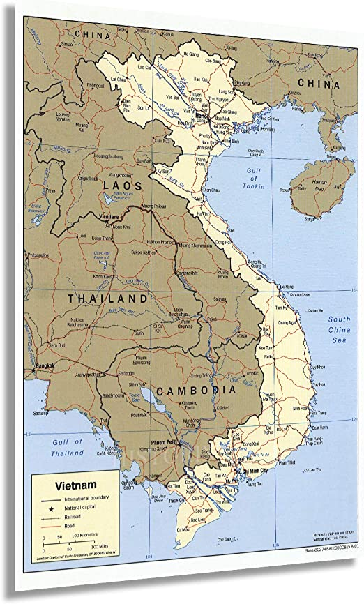 Amazon Com Historix 2001 Map Of Vietnam 24 X 36 Inch Vietnam Map Poster Vietnam Wall Poster Map Vietnam Laos Map Cambodia Map Vietnam Laos Cambodia Map Southeast Asia Map 2 Sizes Posters Prints