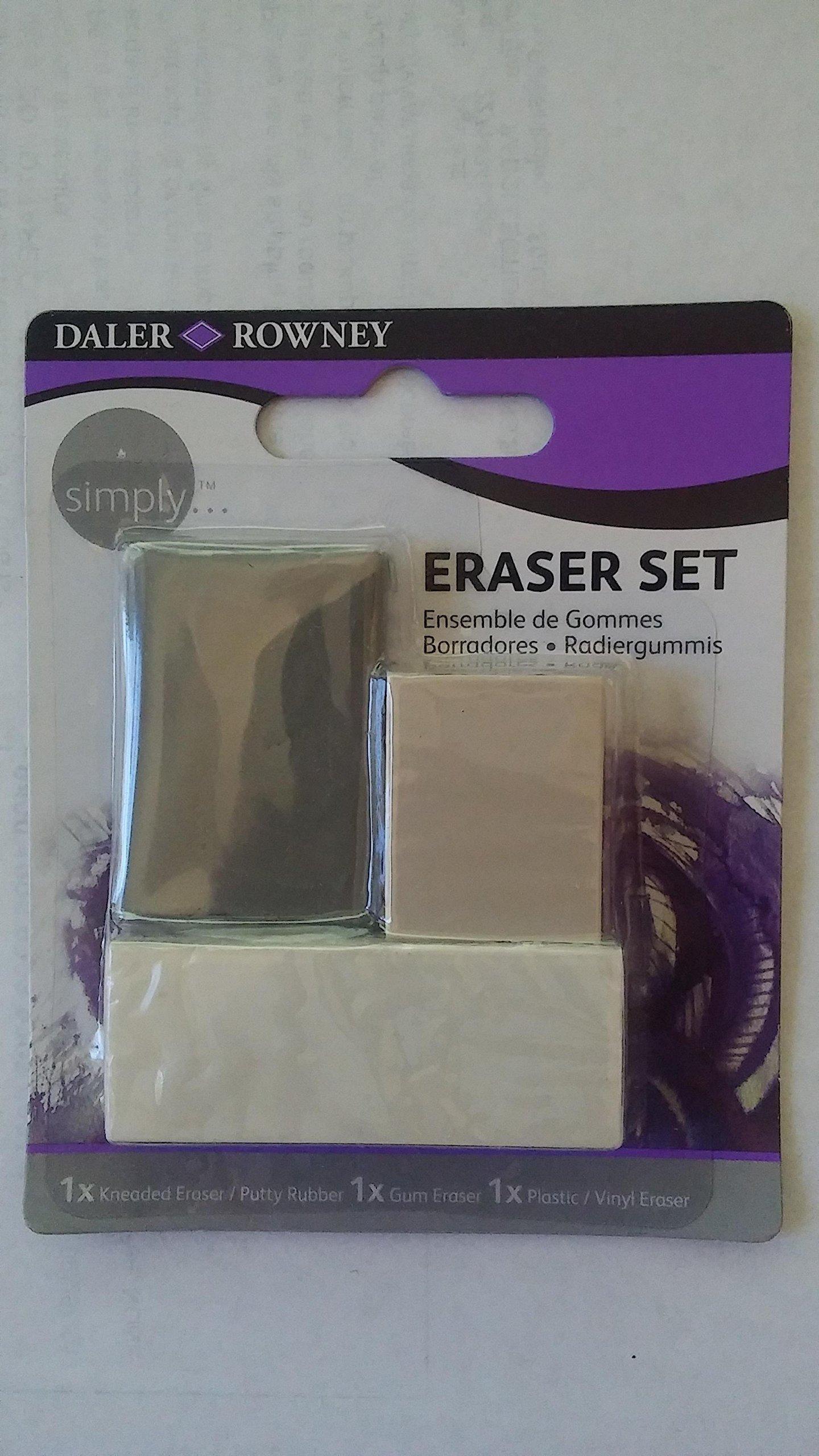 Daler Rowney Simply Eraser Set 3pk