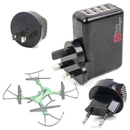 DURAGADGET Kit De Adaptadores con Cargador para Dron Goolsky 509 W ...